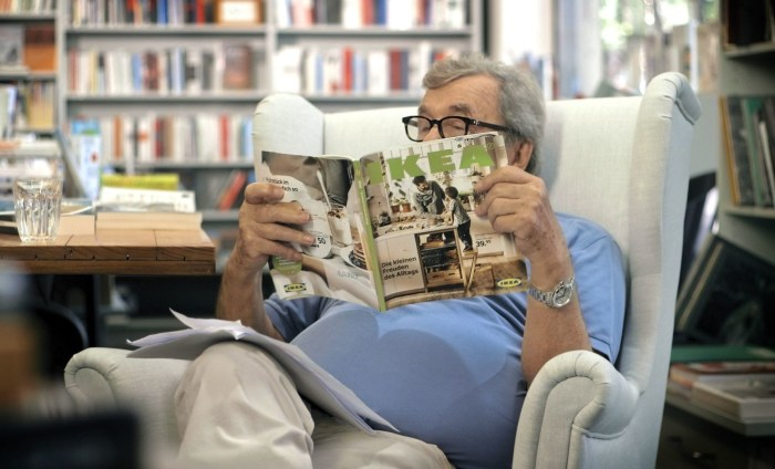 Literature critic Hellmuth Karasek takes a close look at the 2016 IKEA catalogue. (PRNewsFoto/IKEA)