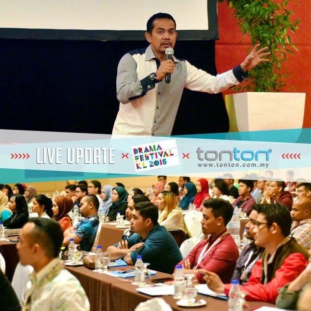 Datuk Rosyam Nor speaks on Acting at Drama Festival Kuala Lumpur 2016 - Photo by tonton / Media Prima Berhad